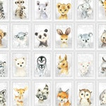 ANIMAL FUN 27 single Motivs or individual 4-piece sets - Nursery Print Fine Art Print Baby Poster Baby Animals in A4 (400 gsm Paper)
