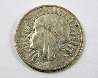 Polen 1933 Silber Königin Jadwiga 5 Zloty Münze