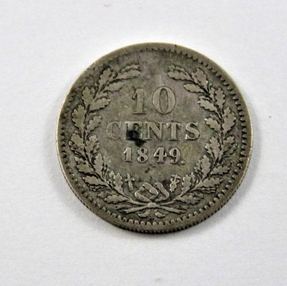 Niederlande 1849 Silber 10 Cent Münze Etsy