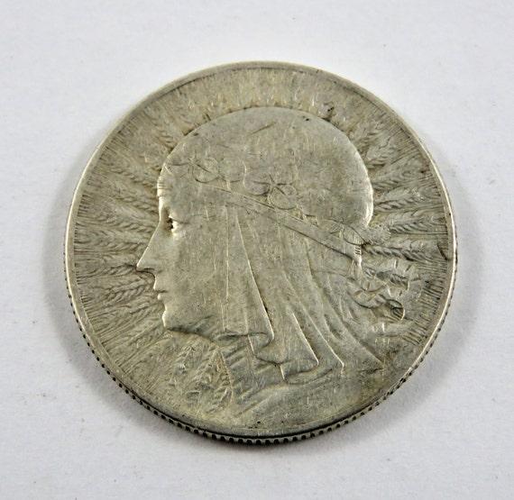 Polen 1933 Silber Königin Jadwiga 5 Zloty Münze Etsy