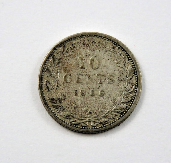 Niederlande 1906 Silber 10 Cent Münze Etsy