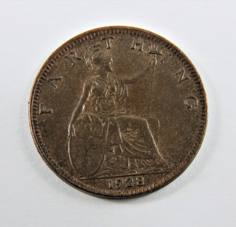 Great Britain 1928 Farthing Coin.