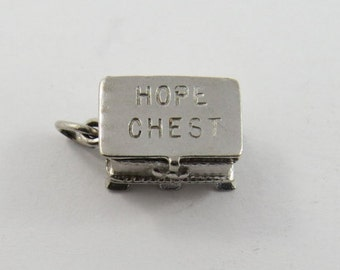 Hope Chest Sterling Silver Pendant or Charm.