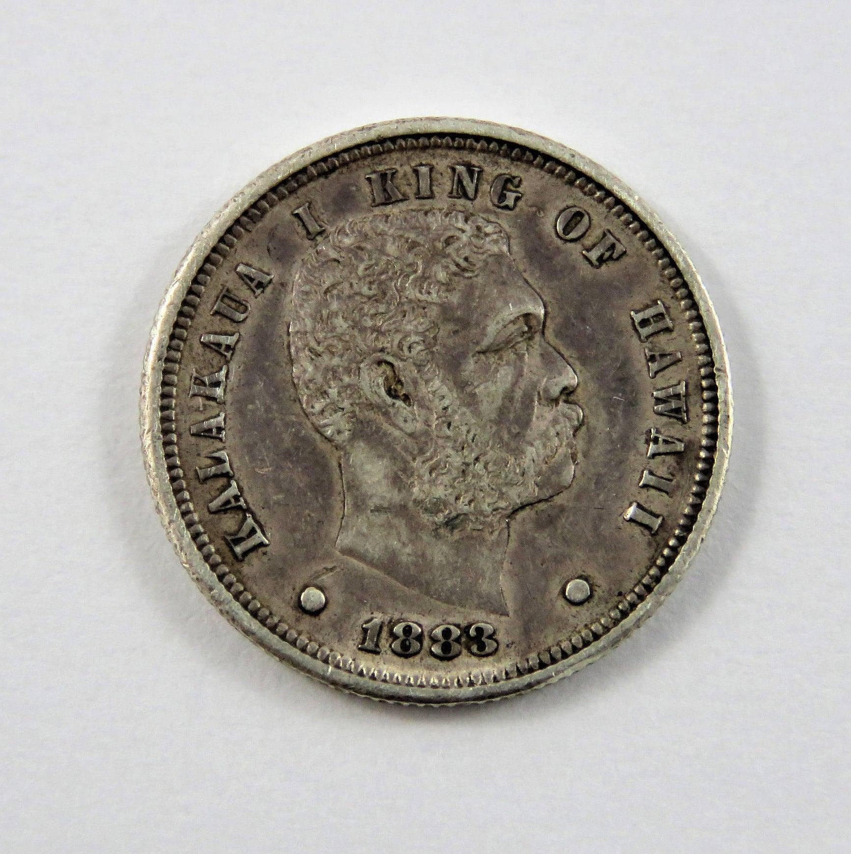 Hawaii Usa 1883 Silber 10 Cent Münze Umi Keneta Ef Etsy