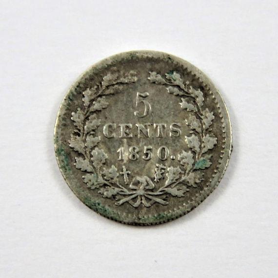 Niederlande 1850 Silber 5 Cent Münze Etsy