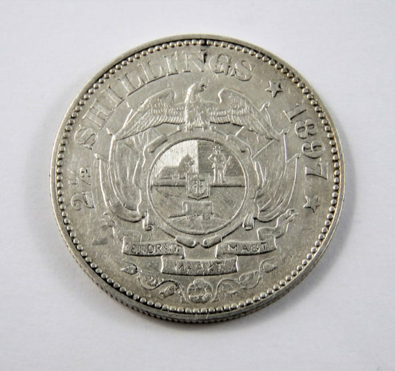 Süd Afrika 1897 Sterling Silber 2 12 Schilling Münze