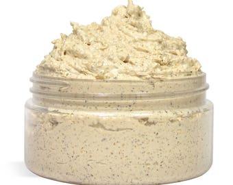 8 oz. Sugar Scrub - Demerara Sugar Scrub - Brown Sugar Scrub - Organic Body Scrub - Shea Butter - Handmade - Private Label