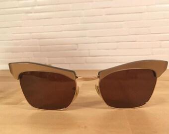 2d095a2607e Vintage 1950s cateye browline sunglasses frames pin up girl diva rockabilly  by Algha U.K.