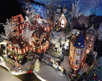 """Xdeep Multi-level BiG 64"""" Christmas VILLAGE DISPLAY PLATFORm  Base ONLY, Department 56 stand, Christmas in City, Grinch, French Country fsmj"""