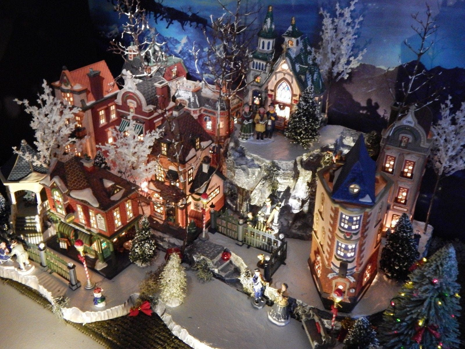 Department 56 Christmas Village Display.Xdeep Multi Level 64 Christmas Village Display Platform Base Dept 56 Lemax Miniature City Fsmj