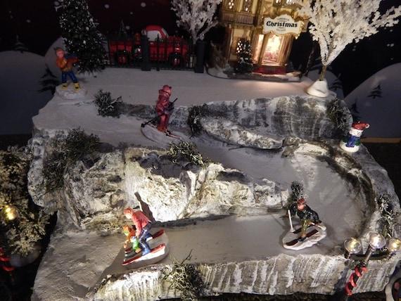 Mini Christmas Village Display.L Ski Slope Village Display Snow Christmas For Department 56 Village Rock Cliff Lemax Winter City Mini Lighted Building Decor Display Lx