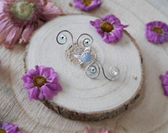 Fairy ear cuff with Aquamarine | Brise Azurée