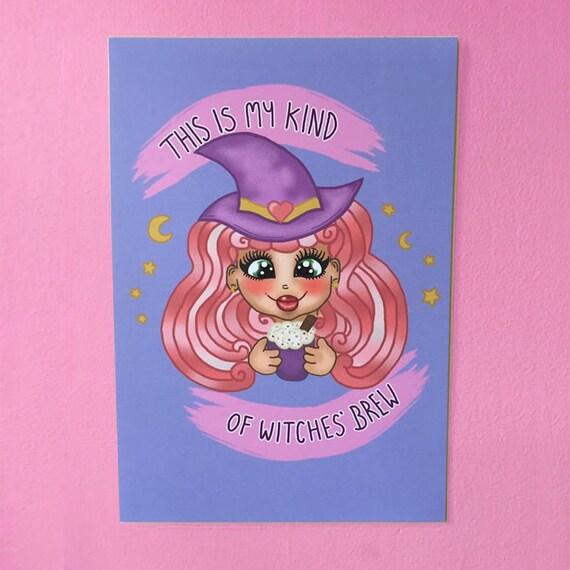 Kawaii Witch print
