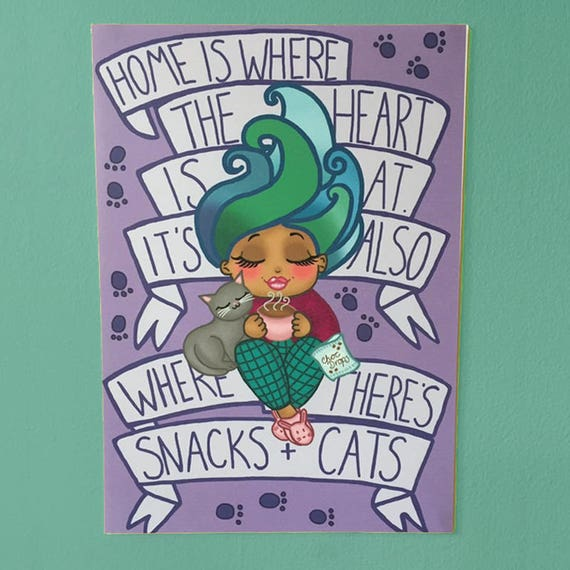 Cats and Snacks print