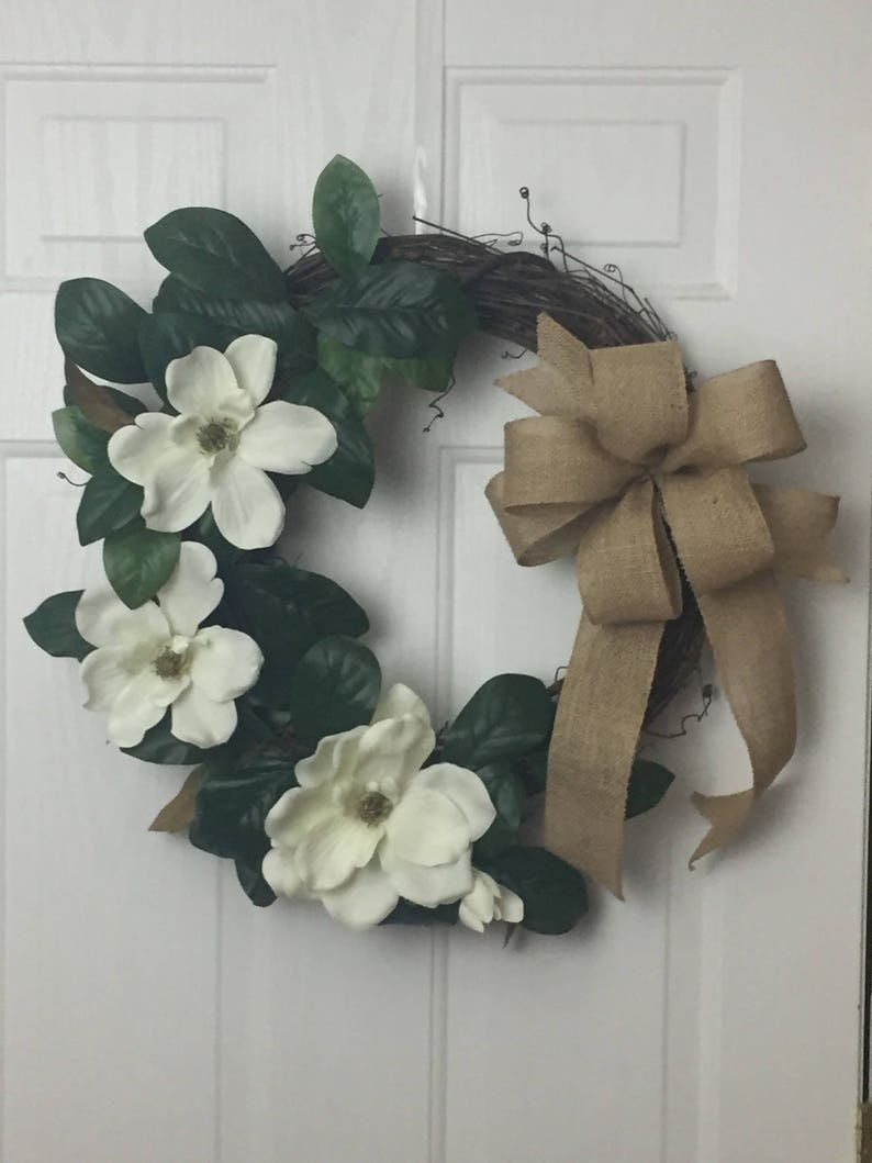 Everyday Wreath Magnolia Wreath Spring Magnolia Wreath Etsy