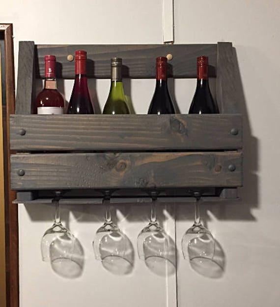 Rustic Wood Decor, Rustic Wooden Decor, Rustic Wine Decor, Rustic Kitchen  Decor, Bar Decor, Wine Rack, Rustic Home Decor