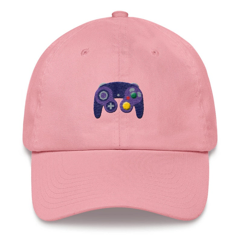 61172409f Game Cube Dad Hat - Gamecube Controller Strapback Hat - Nintendo Game Cube  Controller Low Profile Hat