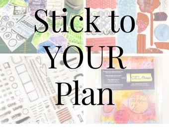Stick To YOUR Plan Online Workshop/ How-To Make Stickers/ Gel Plate Techniques