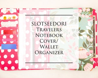 Slotseedori Travelers Notebook Cover/ Fabric Midori/ Wallet Organizer