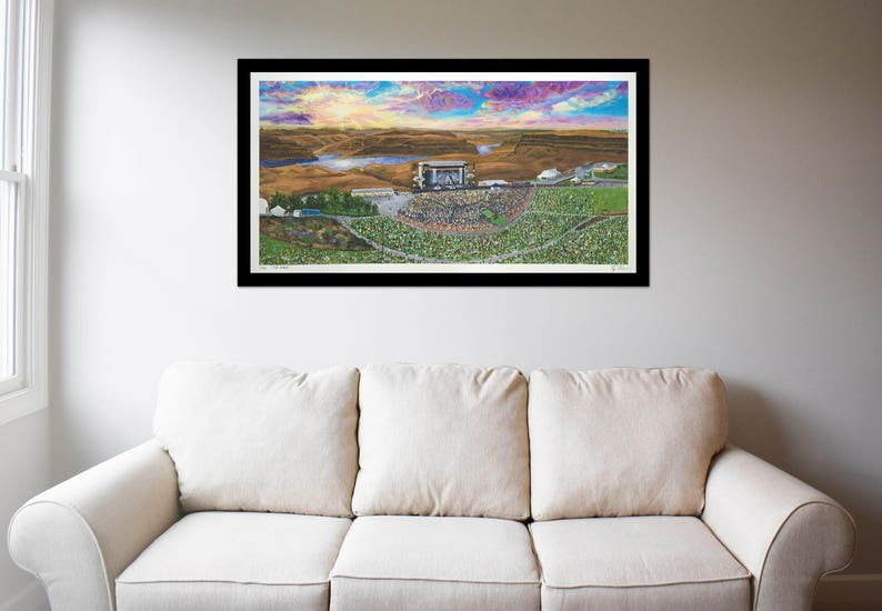 The Gorge Amphitheatre Fine Art Print image 0