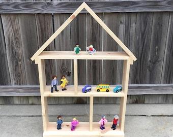 Dollhouse Bookcase Bookshelf Solid Wood