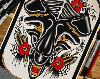 Alien Queen Tattoo Art Print