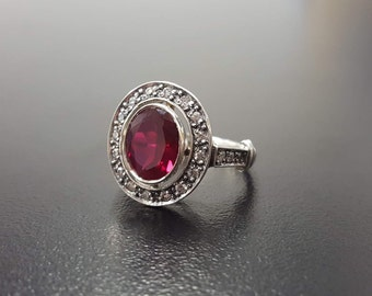 97680aeed Red Vintage Ring, Ruby Ring, Created Ruby, Red Ruby Ring, Red Ring, Antique  Ruby Ring, Vintage Ring, 925 Silver Ring, Red Diamond Ring, Ruby