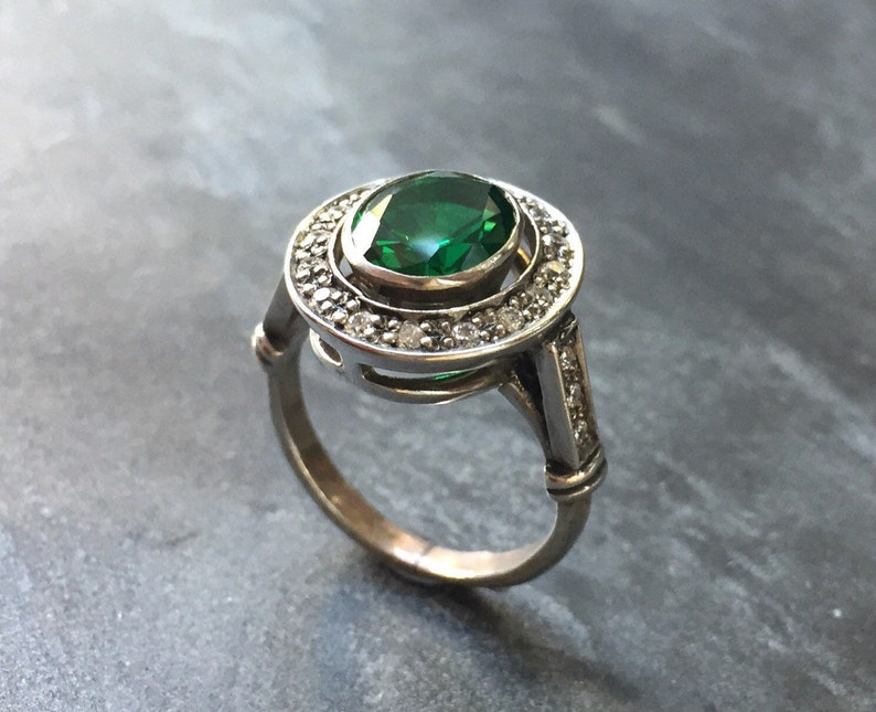 Emerald Ring Antique Ring Vintage Ring Antique Emerald  420453b84727