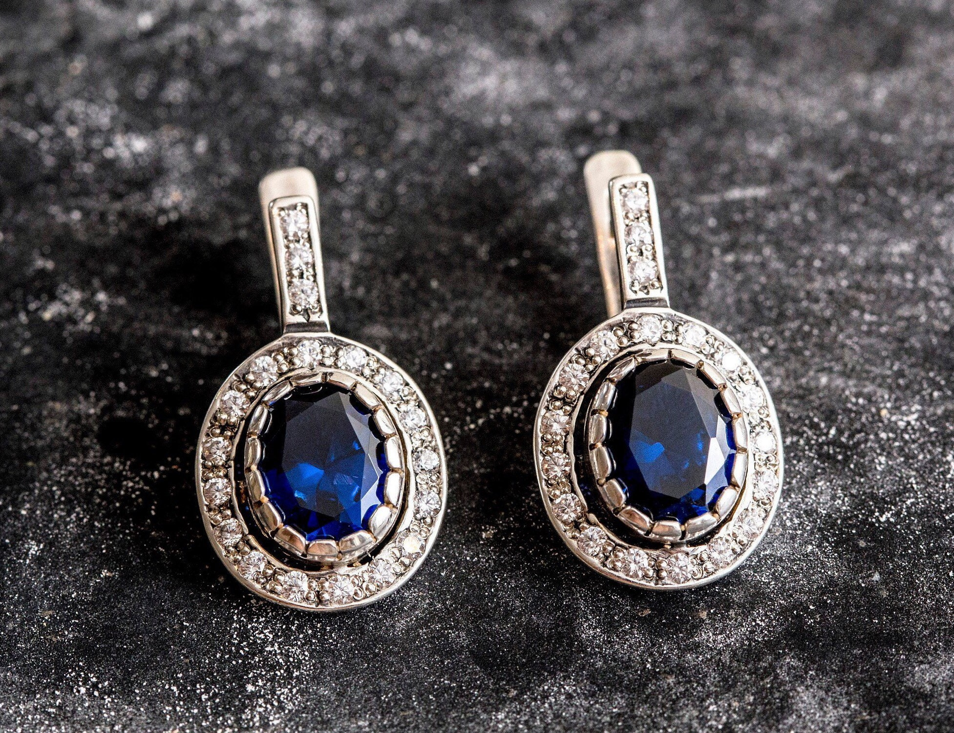 Sapphire Earrings Antique Earrings Vintage Earrings Antique