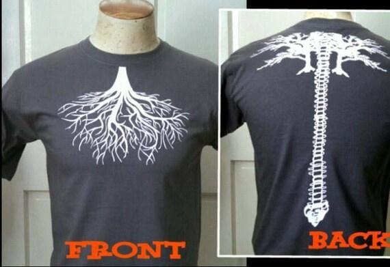 Wurzel der Lunge/Baum Wirbelsäule Kohle Grau T-Shirt   Etsy