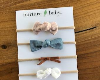 Baby and Toddler Headbands Feelin/' Grapeful Collection Headband 3 Pack