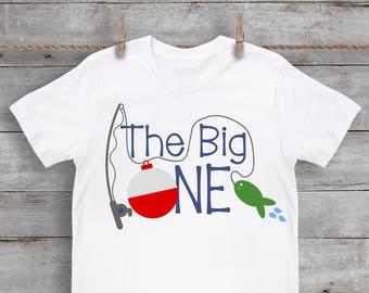 One SVG - 1st SVG - First Birthday SVG - The Big One svg - Bobber svg - Fishing svg - Boy - Files for Silhouette Studio/Cricut Design Space