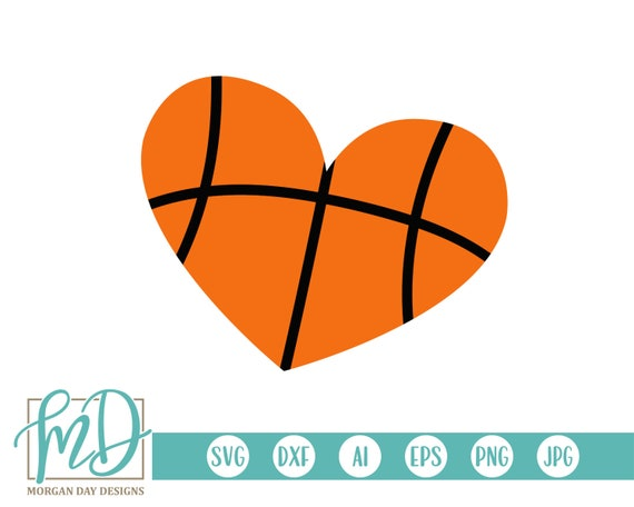 Basketball SVG - Basketball Clipart - Basketball Heart SVG - Heart svg -  Love Basketball svg - Cricut - Silhouette - Noun svg - Icon svg
