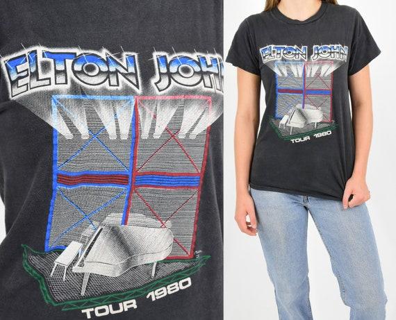 80s Vintage Elton John T Shirt Elton John Tour T S