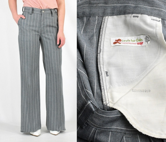 70s Vintage Levi's High Waist Bell Bottoms Pants P