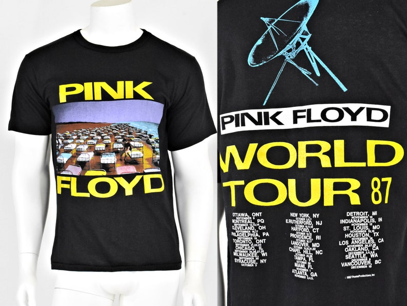 9e2cfd8611a2 1987 Vintage Pink Floyd T Shirt Momentary Lapse of Reason   Etsy