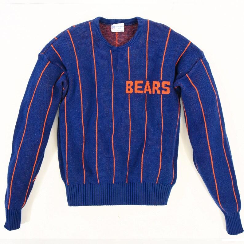 newest ef7ae c3c97 70s Vintage Men's M Chicago Bears Sweatshirt NFL Cliff Engle Ltd Sweater  Striped Sweatshirt