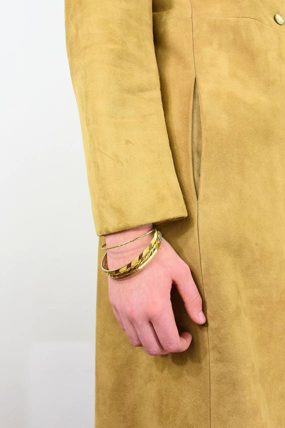 Stunning! 50s Vintage Fitted Coat Rubbed Suede Pr… - image 3