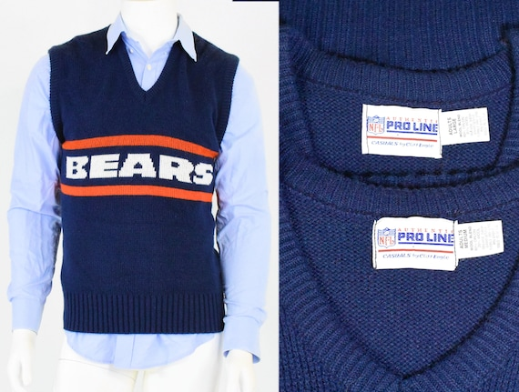 Vintage Chicago Bears Sweater Vest Cliff Engle Proline Nfl Etsy