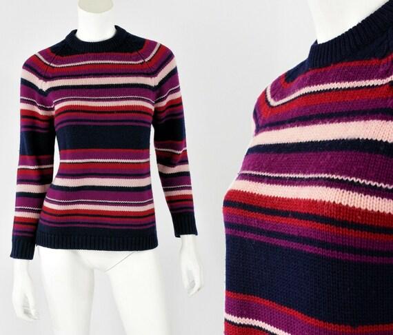 60s vintage virgin wool mock neck sweater womens S