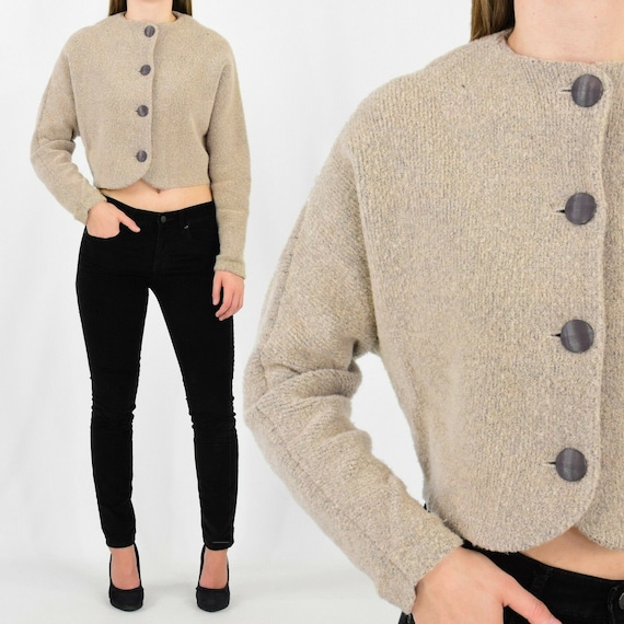 Vintage St. John cropped sweater wool chunky knit