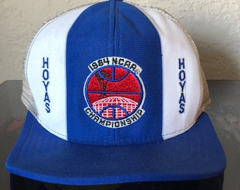 3155b73fb5f Vintage Georgetown Hoyas 1984 NCAA Champs Seattle Snapback Hat Space Needle