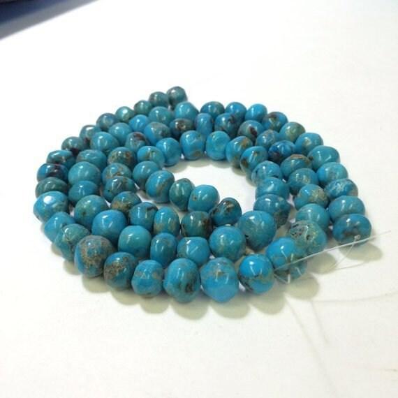 10x12mm Pebbles shape , Genuine Turquoise Beads, N