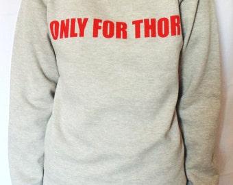 Marvel Thor Superhero/Avengers Womens Fashion Slogan Sweater / Sweatshirt