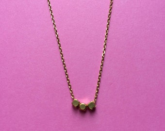 Boho Dainty Gold Bead Necklace