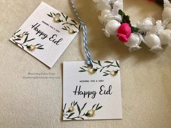 Tags Eid Mubarak Eid Gift Tags Eid Printables Happy Eid Etsy