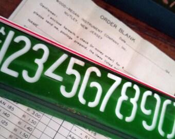 1940s Post Cereal Pricing Set Vintage Number Stencils Original Box