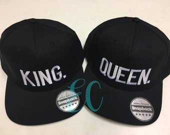 King Queen Fashion Embroidered Snapback Cap Pair Hip-Hop Hats Tumblr  Clothing c983738c590d