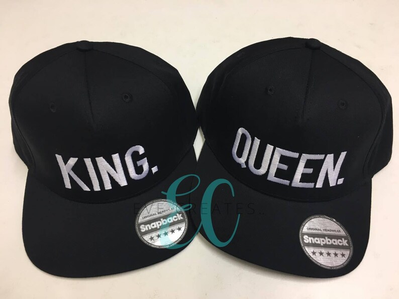 a50a33cf2a0 King Queen Fashion Embroidered Snapback Cap Pair Hip-Hop Hats