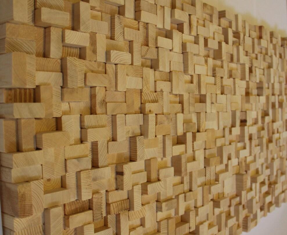 Rustic Reclaimed Wood Wall Art Wood Wall Sculpture Abstract Wood Art Modern Wall Art Wood Wall Art Wood Mosaic Reclaimed Wood